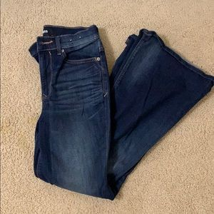 Express stretch flare jeans